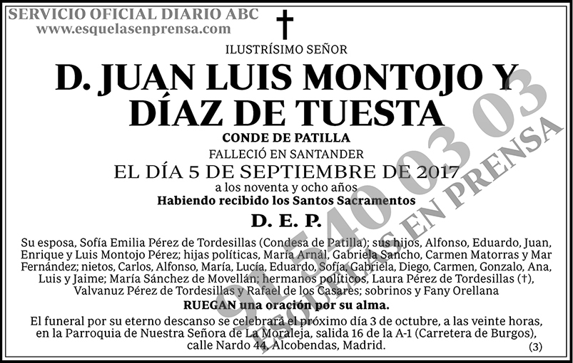 Juan Luis Montojo y Díaz de Tuesta